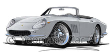 Load image into Gallery viewer, Ferrari 275 GTB NART Spyder - Caricature Car Art Coffee Mug