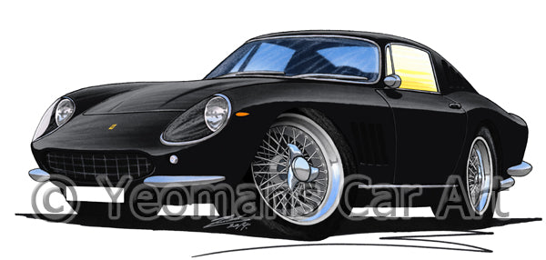 Ferrari 275 GTB - Caricature Car Art Print