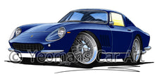 Load image into Gallery viewer, Ferrari 275 GTB - Caricature Car Art Print