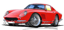 Load image into Gallery viewer, Ferrari 275 GTB - Caricature Car Art Coffee Mug