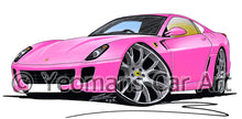 Load image into Gallery viewer, Ferrari 599 - Caricature Car Art Print