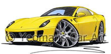 Load image into Gallery viewer, Ferrari 599 - Caricature Car Art Coffee Mug