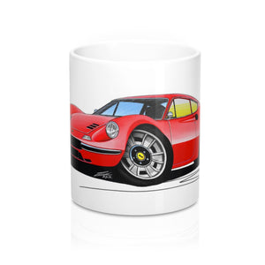 Ferrari Dino 246 GT - Caricature Car Art Coffee Mug