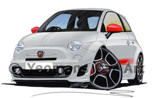 Fiat 500 Abarth - Caricature Car Art Coffee Mug