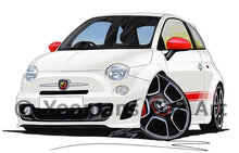 Load image into Gallery viewer, Fiat 500 Abarth - Caricature Car Art Coffee Mug