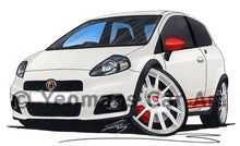 Load image into Gallery viewer, Fiat Grande Punto Abarth - Caricature Car Art Print