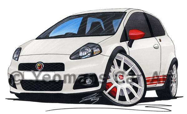 Fiat Grande Punto Abarth - Caricature Car Art Coffee Mug