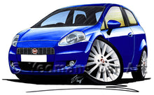 Load image into Gallery viewer, Fiat Grande Punto - Caricature Car Art Print