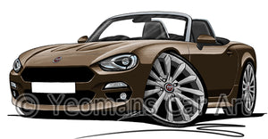 Fiat 124 Spider - Caricature Car Art Print