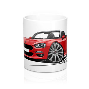 Fiat 124 Spider - Caricature Car Art Coffee Mug