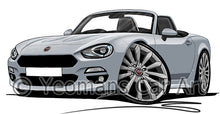 Load image into Gallery viewer, Fiat 124 Spider - Caricature Car Art Print
