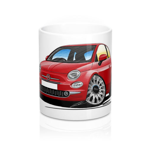 Fiat 500 (Facelift) - Caricature Car Art Coffee Mug