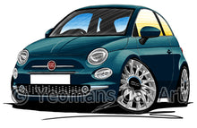 Load image into Gallery viewer, Fiat 500 (Facelift) - Caricature Car Art Print