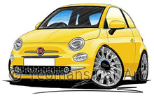 Load image into Gallery viewer, Fiat 500 (Facelift) - Caricature Car Art Coffee Mug