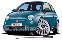 Load image into Gallery viewer, Fiat 500 - Caricature Car Art Print