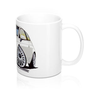 Fiat 500 - Caricature Car Art Coffee Mug