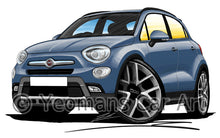 Load image into Gallery viewer, Fiat 500x - Caricature Car Art Print