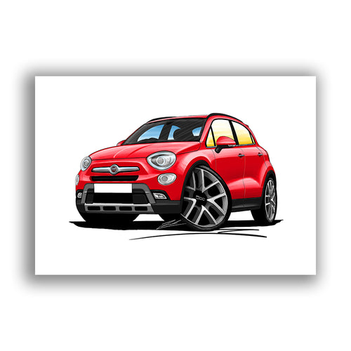 Fiat 500x - Caricature Car Art Print