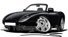 Load image into Gallery viewer, Fiat Barchetta - Caricature Car Art Print