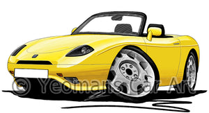 Fiat Barchetta - Caricature Car Art Print