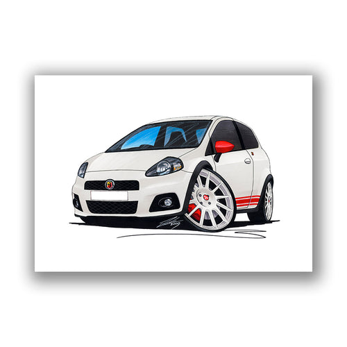 Fiat Grande Punto Abarth - Caricature Car Art Print