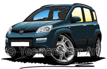 Load image into Gallery viewer, Fiat Panda (Mk3) 4x4 / Trekking - Caricature Car Art Print