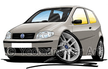 Load image into Gallery viewer, Fiat Punto (Mk2)(Facelift) - Caricature Car Art Print