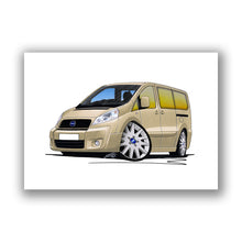 Load image into Gallery viewer, Fiat Scudo - Caricature Car Art Print