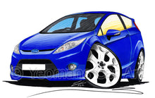 Load image into Gallery viewer, Ford Fiesta (Mk7) S1600 - Caricature Car Art Print