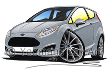 Load image into Gallery viewer, Ford Fiesta (Mk7)(Facelift) Zetec S - Caricature Car Art Print