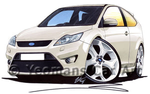 Ford Focus (Mk2)(Facelift) ST (3dr) - Caricature Car Art Print