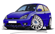 Load image into Gallery viewer, Ford Focus (Mk1) ST170 (3dr) - Caricature Car Art Print