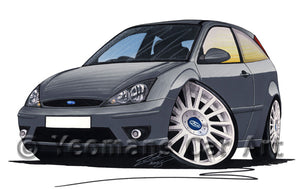 Ford Focus (Mk1) ST170 (3dr) - Caricature Car Art Print