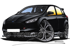 Ford Focus (Mk3)(Facelift) ST - Caricature Car Art Print