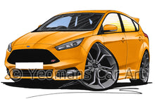 Load image into Gallery viewer, Ford Focus (Mk3)(Facelift) ST - Caricature Car Art Print