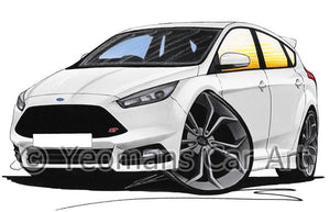 Ford Focus (Mk3)(Facelift) ST - Caricature Car Art Coffee Mug