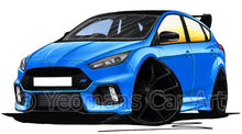 Load image into Gallery viewer, Ford Focus (Mk3) RS Limited Edition - Caricature Car Art Print