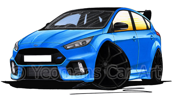 Ford Focus (Mk3) RS Limited Edition - Caricature Car Art Print