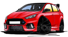 Load image into Gallery viewer, Ford Focus (Mk3) RS Limited Edition - Caricature Car Art Coffee Mug
