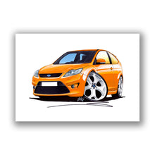 Load image into Gallery viewer, Ford Focus (Mk2)(Facelift) ST (3dr) - Caricature Car Art Print