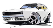 Load image into Gallery viewer, Ford Capri (A) - Caricature Car Art Print