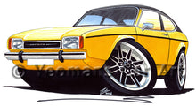 Load image into Gallery viewer, Ford Capri (Mk2) - Caricature Car Art Print