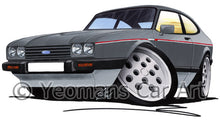 Load image into Gallery viewer, Ford Capri (Mk3) 2.8i - Caricature Car Art Print