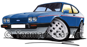 Ford Capri (Mk3) 2.8i - Caricature Car Art Print