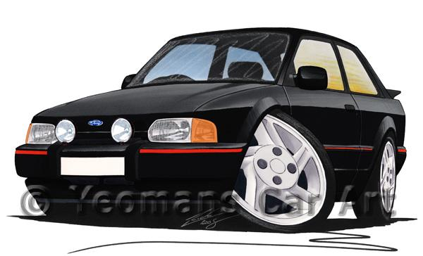 Ford Escort (Mk4) XR3i - Caricature Car Art Coffee Mug