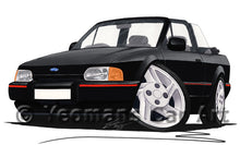 Load image into Gallery viewer, Ford Escort (Mk4) XR3i Cabriolet - Caricature Car Art Print