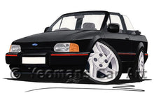 Load image into Gallery viewer, Ford Escort (Mk4) XR3i Cabriolet - Caricature Car Art Coffee Mug