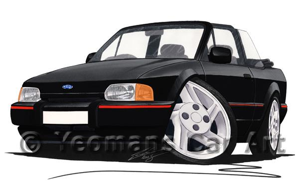 Ford Escort (Mk4) XR3i Cabriolet - Caricature Car Art Coffee Mug