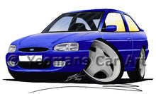 Load image into Gallery viewer, Ford Escort (Mk7) Si - Caricature Car Art Print