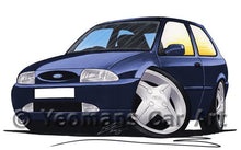 Load image into Gallery viewer, Ford Fiesta (Mk4) - Caricature Car Art Coffee Mug
